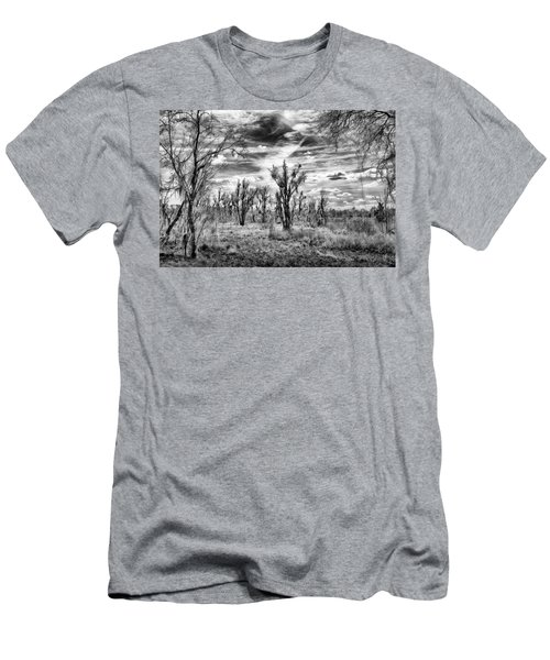 Men's T-Shirt (Athletic Fit) featuring the photograph Levy Lake by Howard Salmon