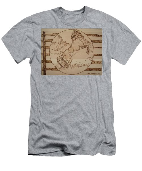 Wild Horse Men's T-Shirt (Slim Fit) by Sean Connolly