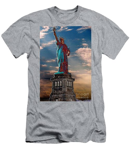 Men's T-Shirt (Slim Fit) featuring the photograph Liberty For All by Luther Fine Art