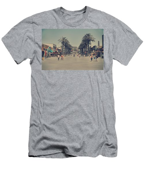 Life In A Beach Town Men's T-Shirt (Slim Fit) by Laurie Search