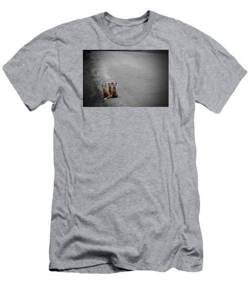 Life Is An Unknown Highway Men's T-Shirt (Slim Fit) by Jim Garrison