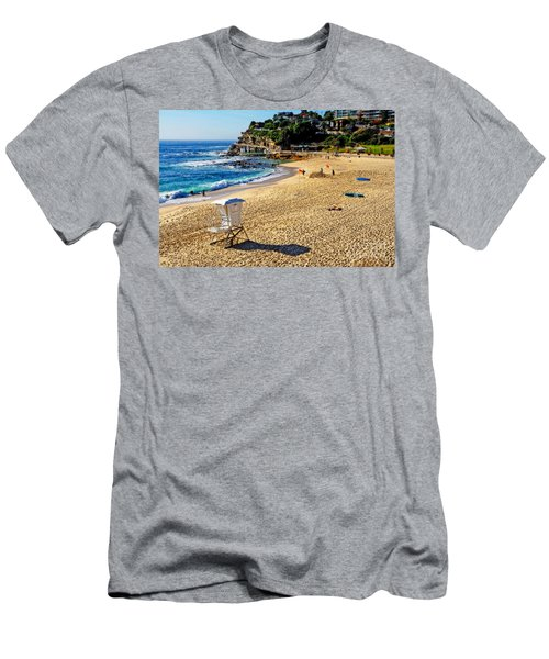 Lifeguard Tower By Kaye Menner Men's T-Shirt (Athletic Fit)