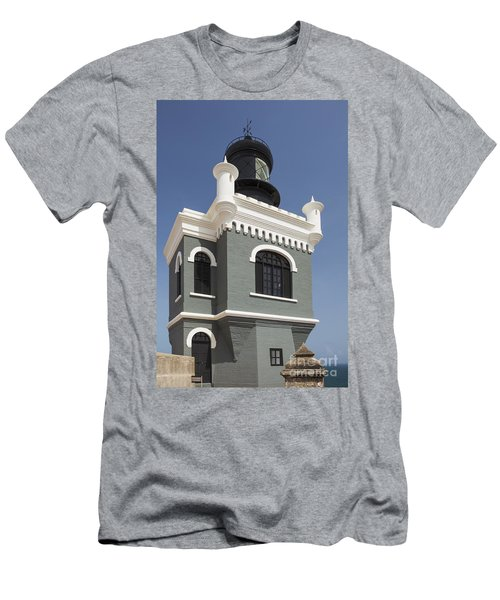 Lighthouse At El Morro Fortress Men's T-Shirt (Athletic Fit)