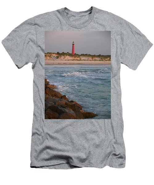 Lighthouse From The Jetty 2 Men's T-Shirt (Athletic Fit)