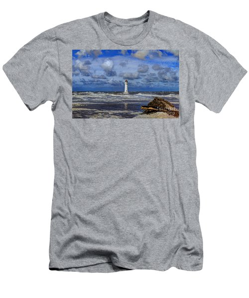 Lighthouse Men's T-Shirt (Slim Fit) by Spikey Mouse Photography
