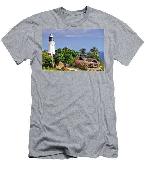 Lighthouse Santiago De Cuba Men's T-Shirt (Athletic Fit)
