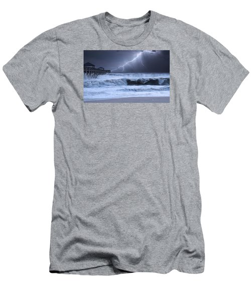 Men's T-Shirt (Athletic Fit) featuring the photograph Lightning Strike by Laura Fasulo
