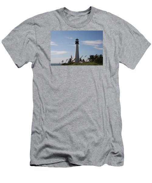 Ligthouse - Key Biscayne Men's T-Shirt (Slim Fit) by Christiane Schulze Art And Photography