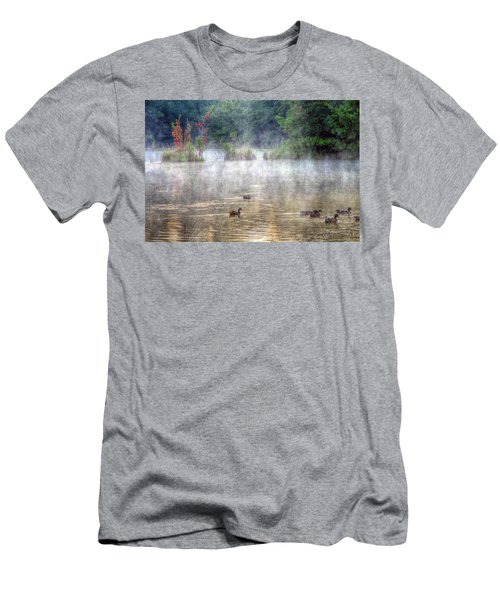 Men's T-Shirt (Slim Fit) featuring the photograph Little Bit Of Fall by Charlotte Schafer