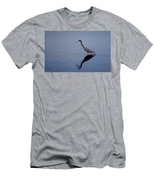 Men's T-Shirt (Slim Fit) featuring the photograph Little Blue Heron On The Hunt by John M Bailey