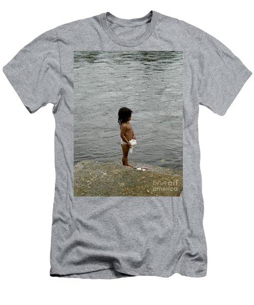 Little Laundress Men's T-Shirt (Slim Fit) by Kathy McClure