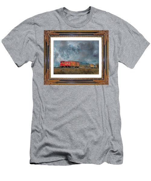 Little Red Caboose  Men's T-Shirt (Athletic Fit)