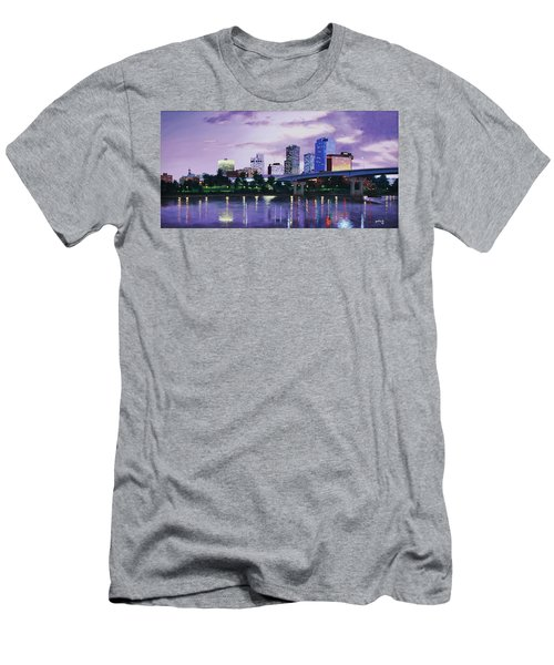 Little Rock Skyline Men's T-Shirt (Athletic Fit)