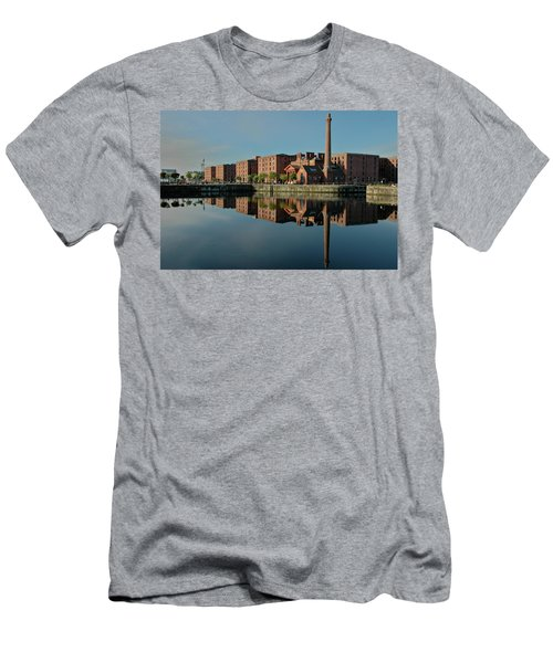 Liverpool Canning Docks Men's T-Shirt (Slim Fit) by Jonah  Anderson