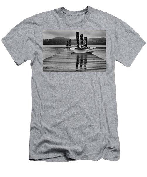 Loch Lomond Men's T-Shirt (Slim Fit) by Eunice Gibb