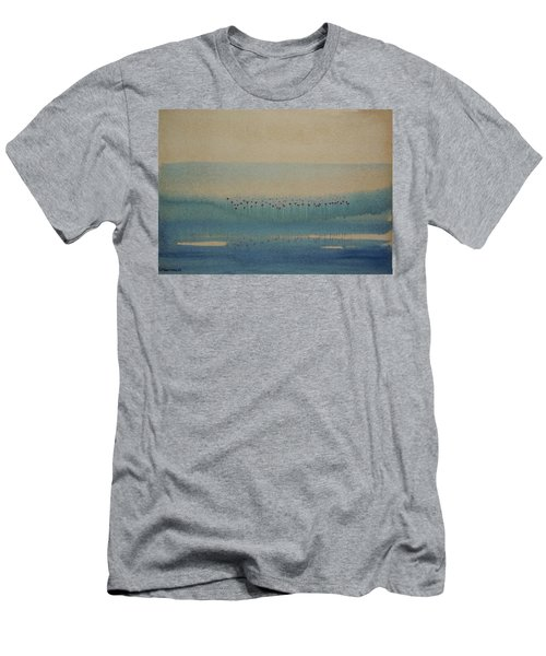 Men's T-Shirt (Slim Fit) featuring the painting Loch Of My Heart by Mini Arora