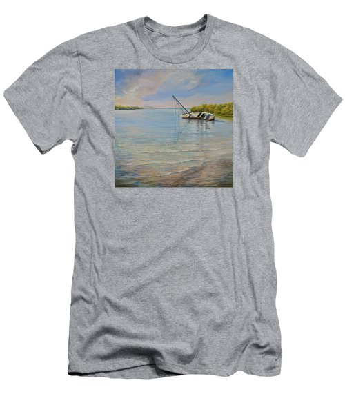 Men's T-Shirt (Slim Fit) featuring the painting Locked by AnnaJo Vahle