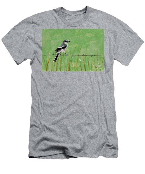 Loggerhead Shrike Men's T-Shirt (Slim Fit) by Stefanie Forck