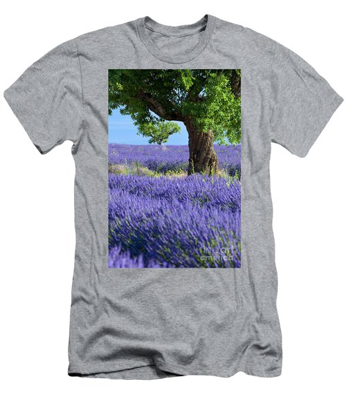 Men's T-Shirt (Athletic Fit) featuring the photograph Lone Tree In Lavender by Brian Jannsen