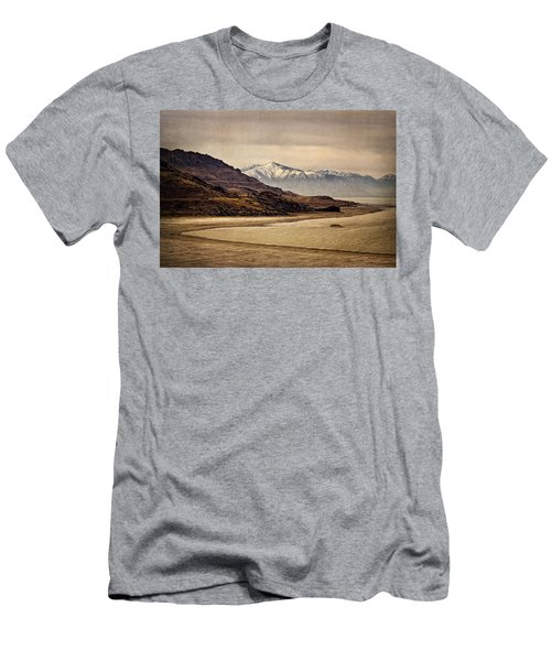 Men's T-Shirt (Slim Fit) featuring the photograph Lonesome Land by Priscilla Burgers
