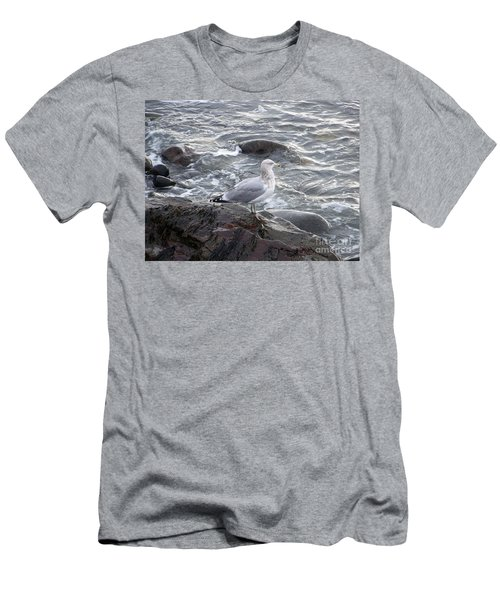 Looking Out To Sea Men's T-Shirt (Slim Fit) by Eunice Miller