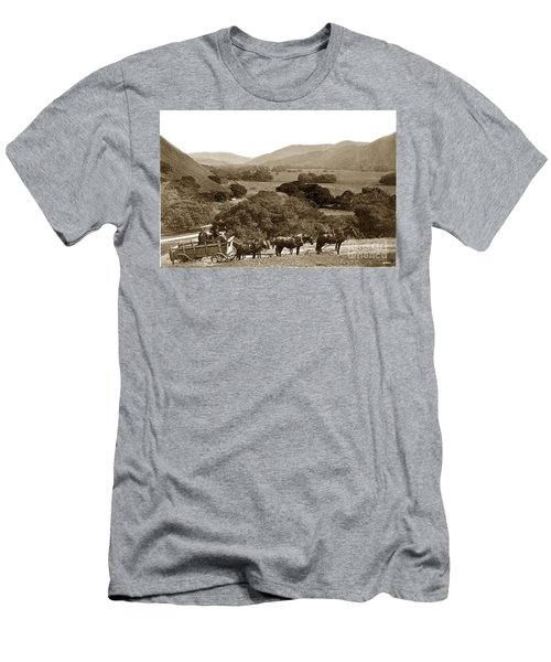 Looking Up The Carmel Valley California Circa 1880 Men's T-Shirt (Slim Fit) by California Views Mr Pat Hathaway Archives