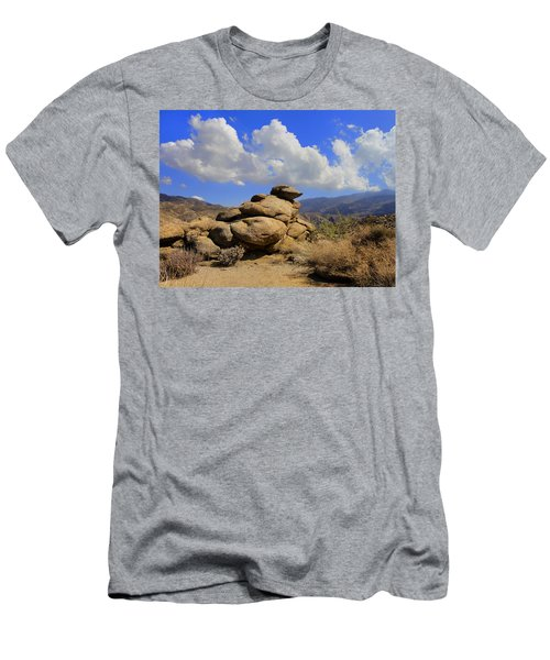 Men's T-Shirt (Slim Fit) featuring the photograph Lookout Rock by Michael Pickett