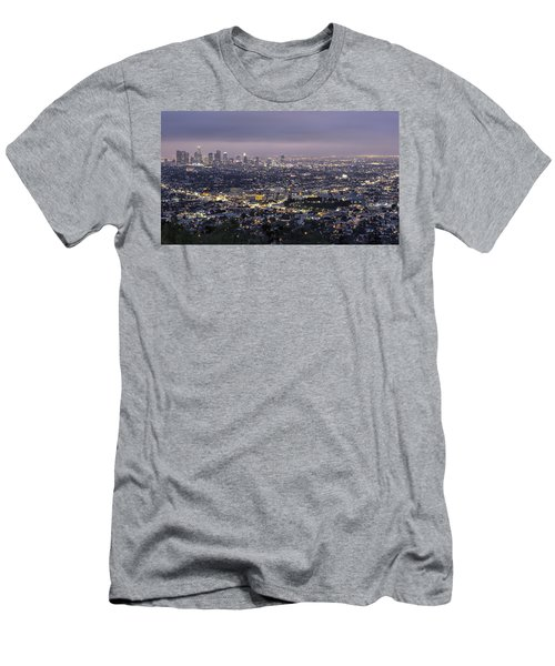 Los Angeles At Night From The Griffith Park Observatory Men's T-Shirt (Athletic Fit)