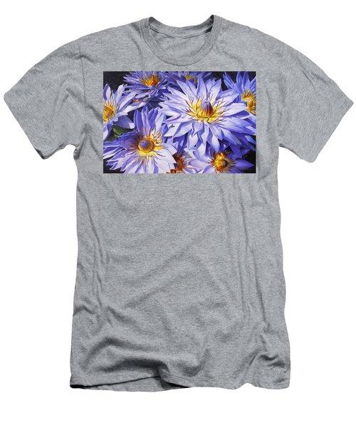Lotus Light - Hawaiian Tropical Floral Men's T-Shirt (Athletic Fit)