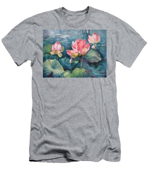 Lotus Pond Men's T-Shirt (Athletic Fit)