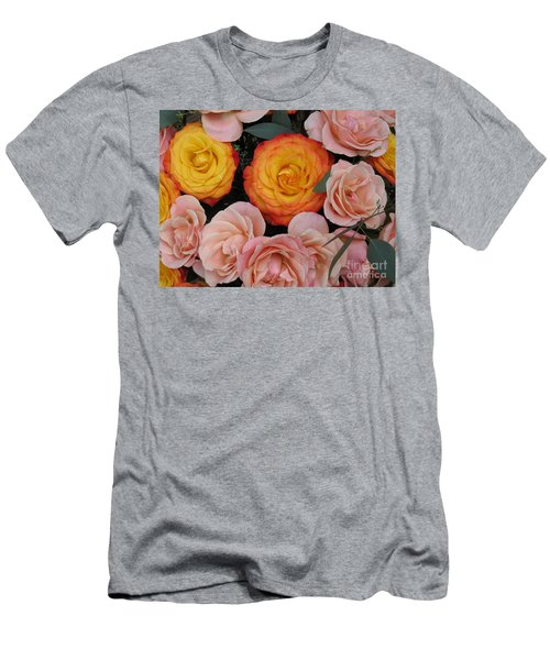 Love Bouquet Men's T-Shirt (Slim Fit) by HEVi FineArt
