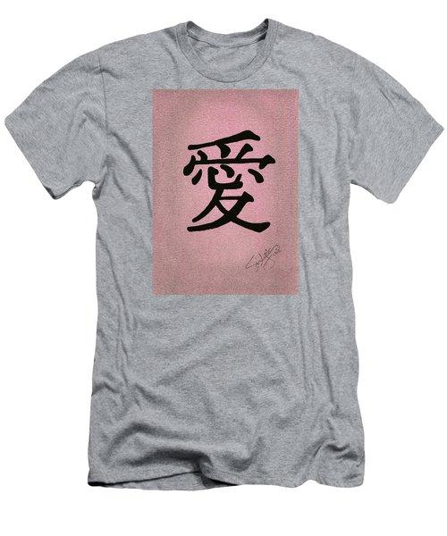 Love Men's T-Shirt (Slim Fit) by Troy Levesque