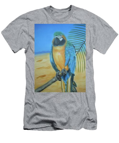 Macaw On A Limb Men's T-Shirt (Athletic Fit)