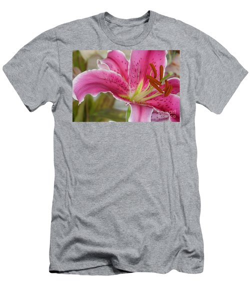 Magenta Tiger Lily Men's T-Shirt (Athletic Fit)