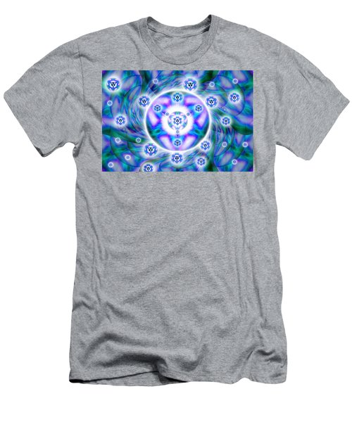 Men's T-Shirt (Slim Fit) featuring the drawing Magnetic Fluid Harmony by Derek Gedney