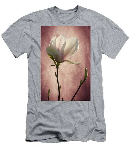 Men's T-Shirt (Slim Fit) featuring the photograph Magnolia by Ann Lauwers