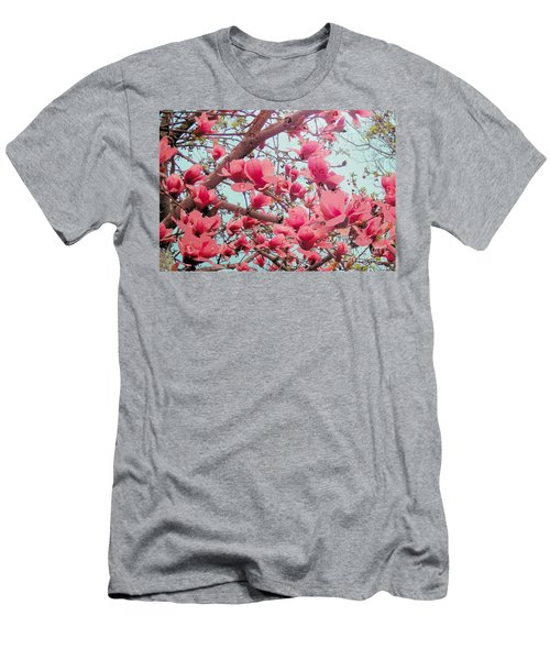 Magnolia Blossoms In Spring Men's T-Shirt (Athletic Fit)