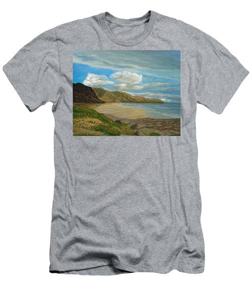 Makaha Beach Men's T-Shirt (Athletic Fit)