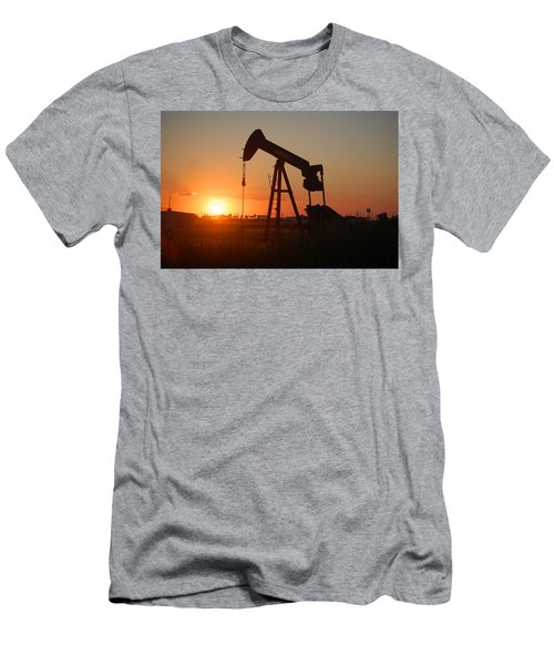 Making Tea At Sunset 2 Men's T-Shirt (Slim Fit) by Leticia Latocki