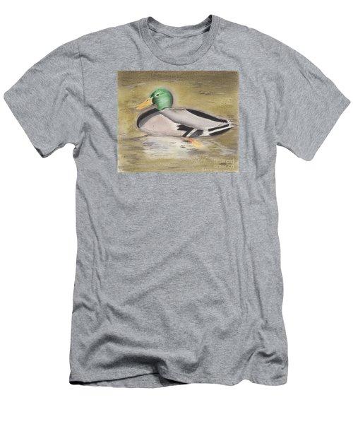 Mallard Men's T-Shirt (Slim Fit) by David Jackson