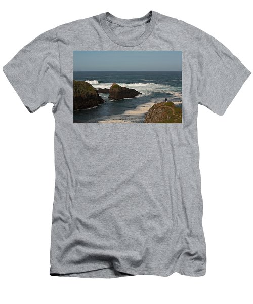 Man Fishing Men's T-Shirt (Slim Fit) by Brian Williamson