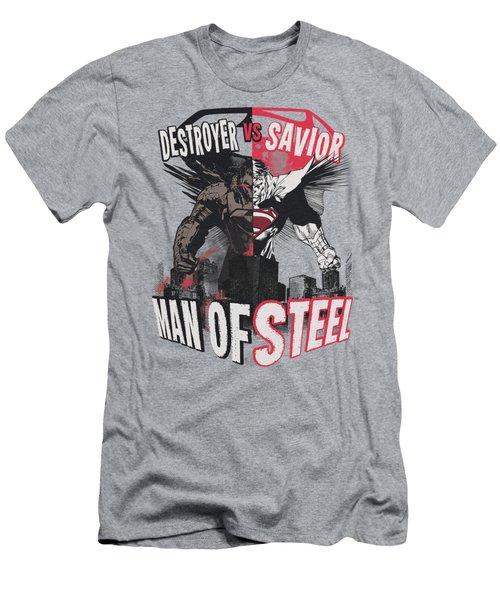 Man Of Steel - Good Vs Evil Men's T-Shirt (Athletic Fit)