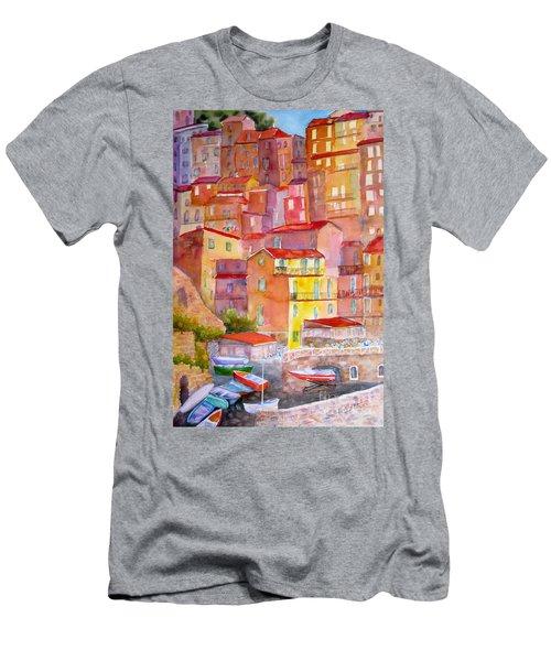 Manarola Italy Men's T-Shirt (Athletic Fit)