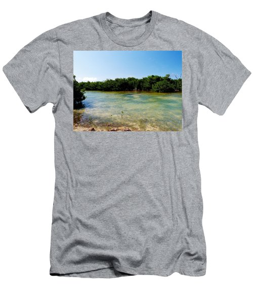 Men's T-Shirt (Slim Fit) featuring the photograph Mangrove @ Safehaven Sound by Amar Sheow