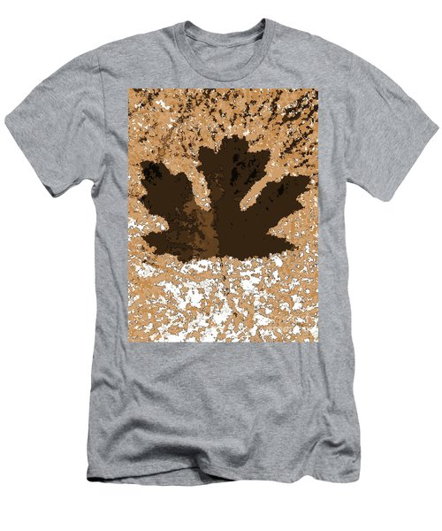Maple Leaf Brown  Hues Men's T-Shirt (Athletic Fit)