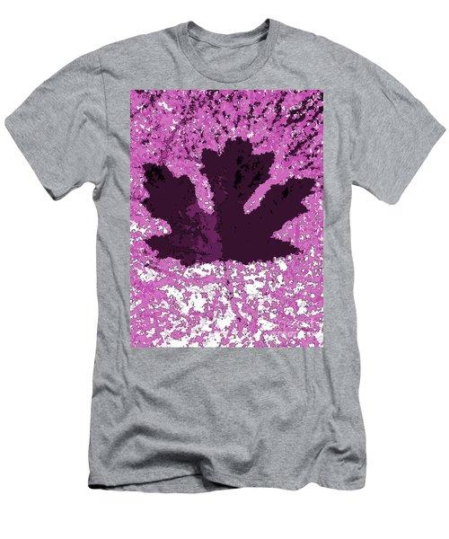 Maple Leaf Purple Pop Poster Hues  Men's T-Shirt (Athletic Fit)