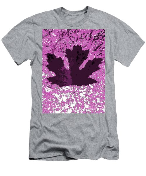 Maple Leaf Purple Pop Poster Hues  Men's T-Shirt (Slim Fit) by R Muirhead Art