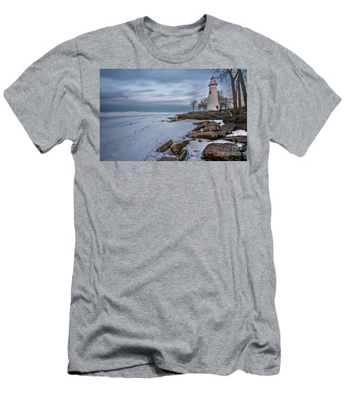 Marblehead Lighthouse  Men's T-Shirt (Slim Fit) by James Dean