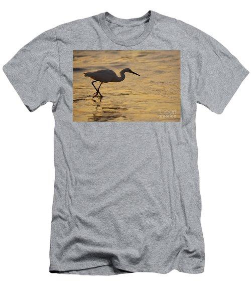 March Of The Egret Men's T-Shirt (Athletic Fit)