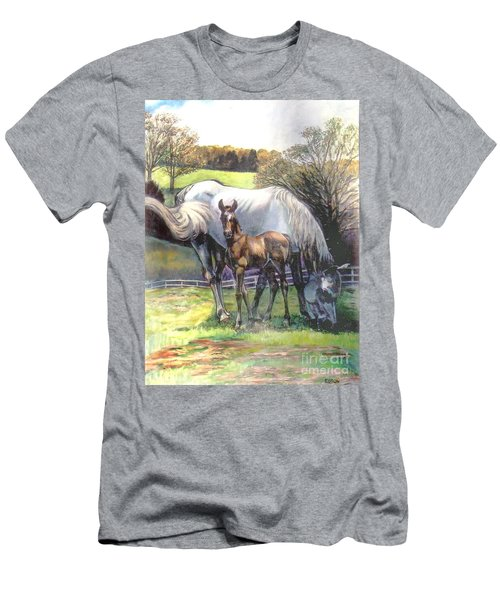 Mare And Foal Men's T-Shirt (Athletic Fit)